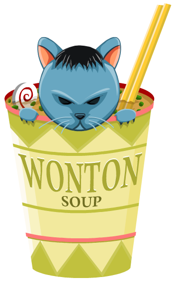 365 Project by JonnyRabbit - Wonton Soup Cat