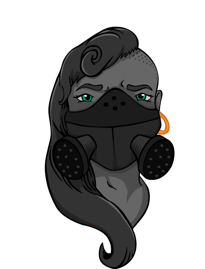 365 Project by JonnyRabbit - Rebellious Female in Gas Mask